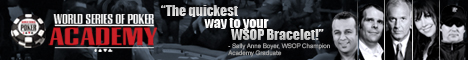 World Series of Poker Academy Boot Camp Banner 1